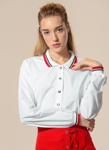 Yakası Ribana Detaylı Gömlek-Agenda